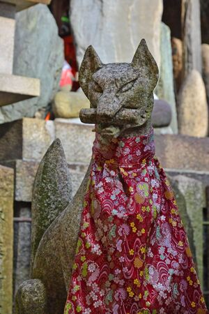 touristy: Kyoto, Japan - august 8 2017 : the Fushimi Inari Taisha shrine Editorial