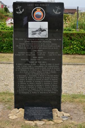 Luc sur Mer; France - july 17 2017 : Flotilla destroyer memorial Editorial