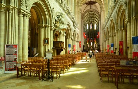 Bayeux; France - july 18 2017 : the historical cathedral Editorial