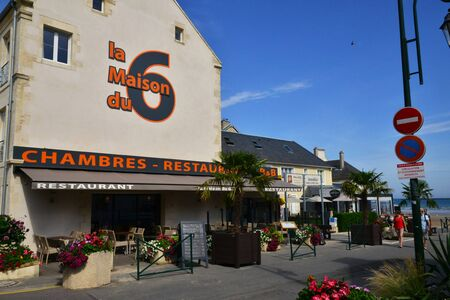 Arromanches;  France - july 18 2017 : hotel restaurant Editorial