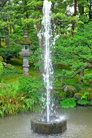 Kanazawa, Japan - august 2 2017 : the Kenroku En park Stock Photo
