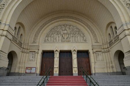 Lisieux; France - july 17 2017 : the Saint Therese basilica Editorial
