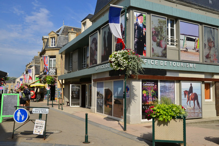 Arromanches;  France - july 18 2017 : the historical city