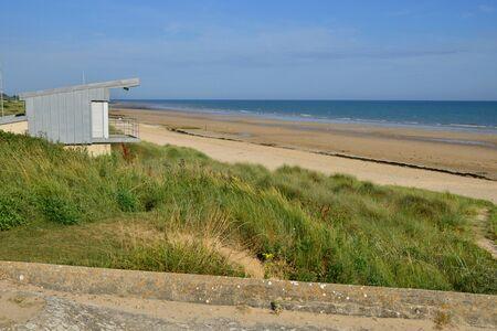 Graye sur Mer; France - july 18 2017 : the seaside