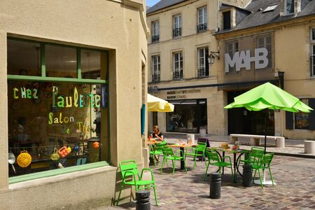 Bayeux; France - july 18 2017 : restaurant in the historical city center