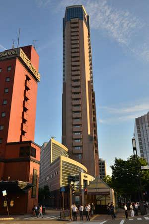 Kanazawa, Japan - august 1 2017 : the city center Editorial