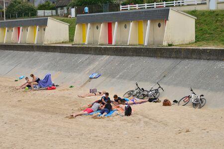 Luc sur Mer; France - july 17 2017 : the seaside