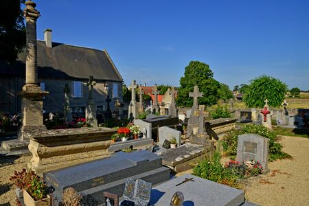 Graye sur Mer; France - july 18 2017 : the cemetery Editorial