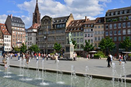 Strasbourg, France - july 28 2017 : the Kleber square