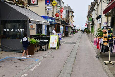 Luc sur Mer, France - july 17 2017 : the village center