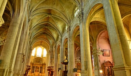 Pontoise, France - july 26 2017 : the Saint Maclou cathedral