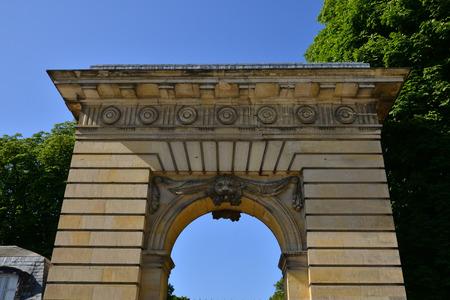 Versailles, France - july 21 2017 : the Saint Antoine door Editorial