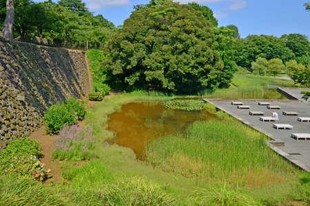 Kanazawa, Japan - august 2 2017 : the 15 th century castle Editorial