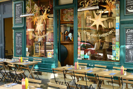 Versailles, France - july 21 2017 : American restaurant in the city center