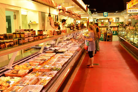Versailles, France - july 22 2017 : food at the covered market