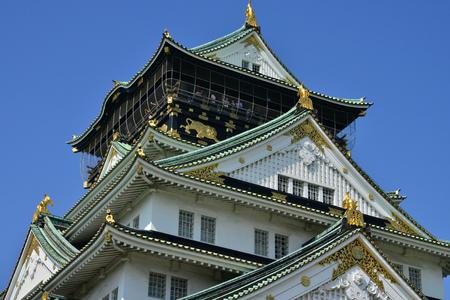 Osaka, Japan - august 5 2017 : the historical castle