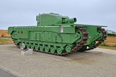 Luc sur Mer; France - july 17 2017 : a Churchill tank Editorial
