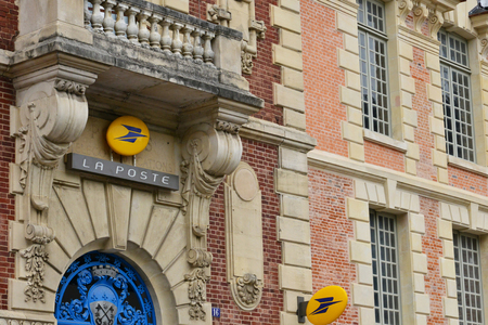 Lisieux; France - july 17 2017 : post office in the city center