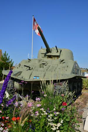 Courseulles; France - july 18 2017 : a Sherman tank
