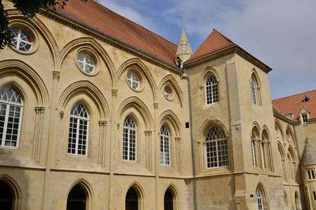 Caen; France - july 17 2017 : the duke palace Banque d'images - 100005411