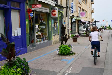 Luc sur Mer; France - july 17 2017 : the village center Editorial