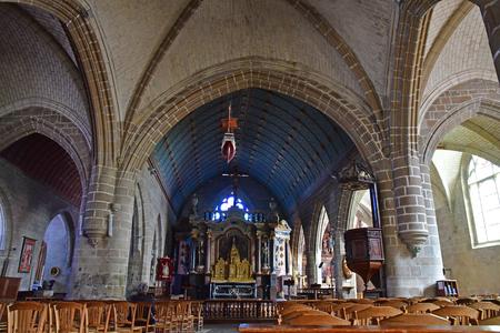 Batz sur Mer, France - april 12 2017 : the Saint Guenole church