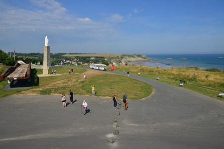 Arromanches; France - july 18 2017 : the seaside