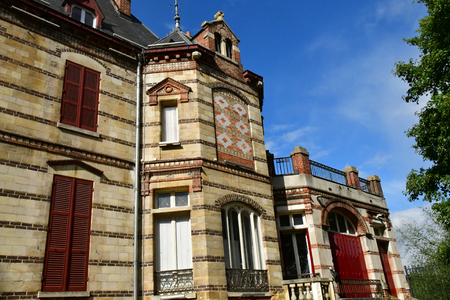 Les Mureaux; France - september 16 2017 : the Bouvaist house Editorial
