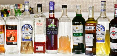 Punta Cana, Dominican Republic - june 2 2017 : bottles in a bar