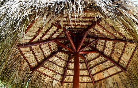 Punta Cana, Dominican Republic - june 4 2017 : a straw hut Editorial