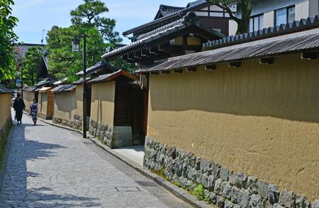 Kanazawa, Japan - august 3 2017 : the Nagamachi samourai house district Banque d'images - 108402597