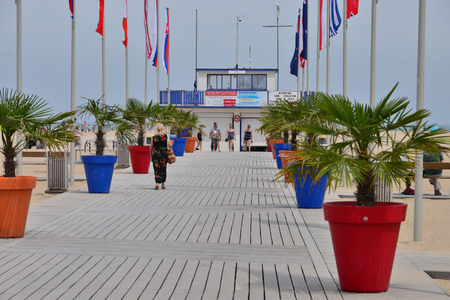Ouistreham, Riva Bella; France - july 17 2017 : the beach