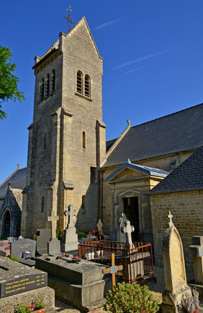 Graye sur Mer; France - july 18 2017 : the church