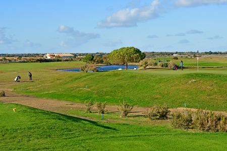 Les Portes en Re; France - november 25 2017 : the golf Publikacyjne