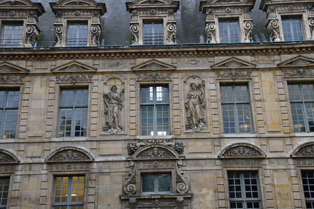 Paris; France - december 22 2017 : the Hotel de Sully in Le Marais