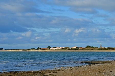 Sainte Marie de Re; France - november 27 2017 : the village view from Rivedoux Plage