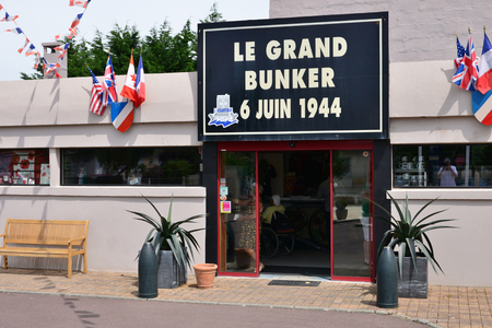 Ouistreham, Riva Bella; France - july 17 2017 : the Grand Bunker, museum of 6 june 1944