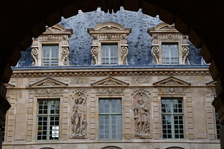 Paris; France - december 22 2017 : the Hotel de Sully in Le Marais