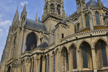 Bayeux; France - july 18 2017 : the historical cathedral