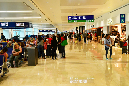 Cancun;  United Mexican States - may 23 2018 : the airport