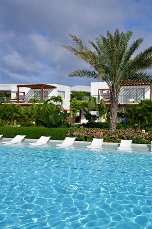 Punta Cana, Dominican Republic - june 4 2017 : pool in an hotel