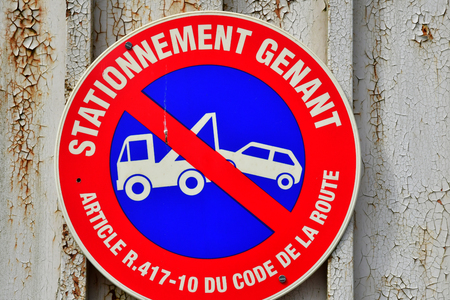 Marly le Roi; France - april 1 2018 : parking forbidden sign