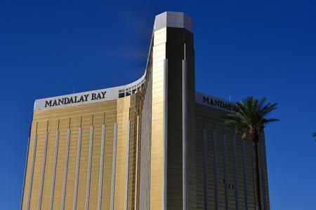 Las Vegas, USA - july 11 2016 : Mandalay Bay hotel on the Strip