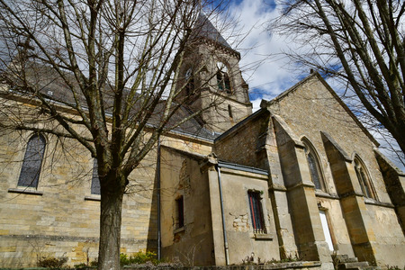 Fremainville , France - april 4 2018 : the neogothic church