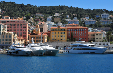 Nice, France - april 19 2016 : the picturesque port