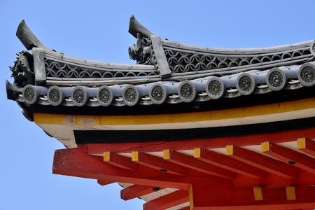 Kyoto; Japan - august 10 2017 : the Kiyomizu Dera temple Editorial