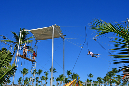 Punta Cana, Dominican Republic - june 1 2017 : school of circus in an hotel