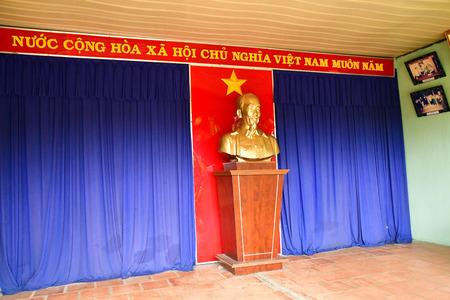 Cu Chi, Socialist Republic of Vietnam - august 16 2018 : the Cu Chi Vietcong tunnels near Saigon