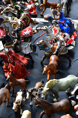 Versailles; France - june 10 2018 : toy at the flea market Archivio Fotografico - 109599728