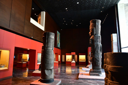 Mexico;  United Mexican State - may 13 2018 : the anthropology museum Editorial